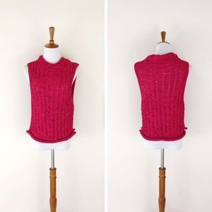 Anthropologie Tops - ANTHROPOLOGIE MOTH Cable Knit Shell Pink NWT